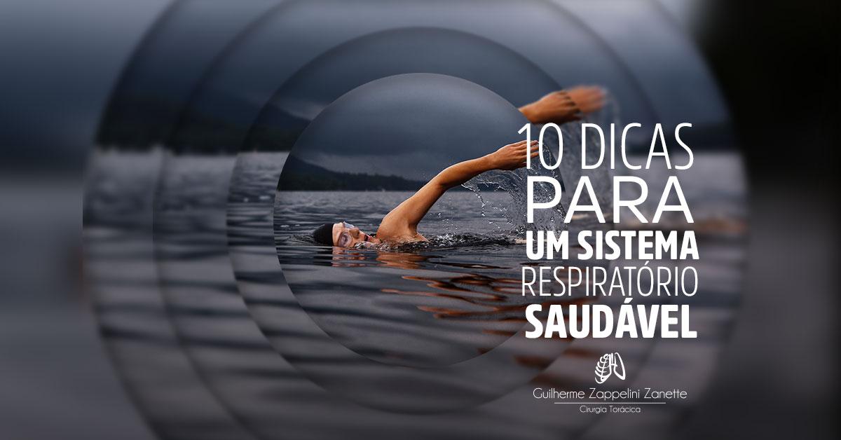 10-DICAS PARA UM SISTEMA RESPIRATÓRIO SAUDÁVEL